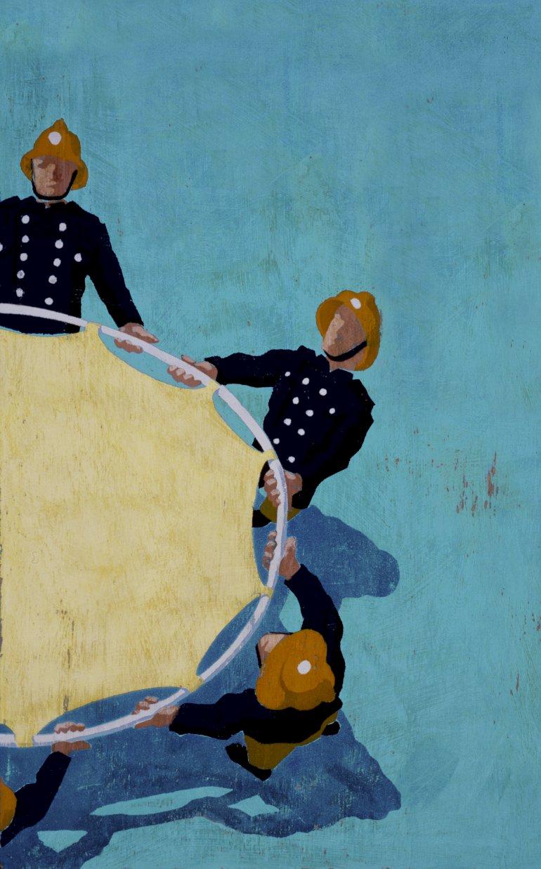Velfærdssamfundet skal være en trampolin og ikke kun et sikkerhedsnet, mener Herlevs borgmester, som tror på, at lighed også skaber frihed.  Illustration:  Polfoto