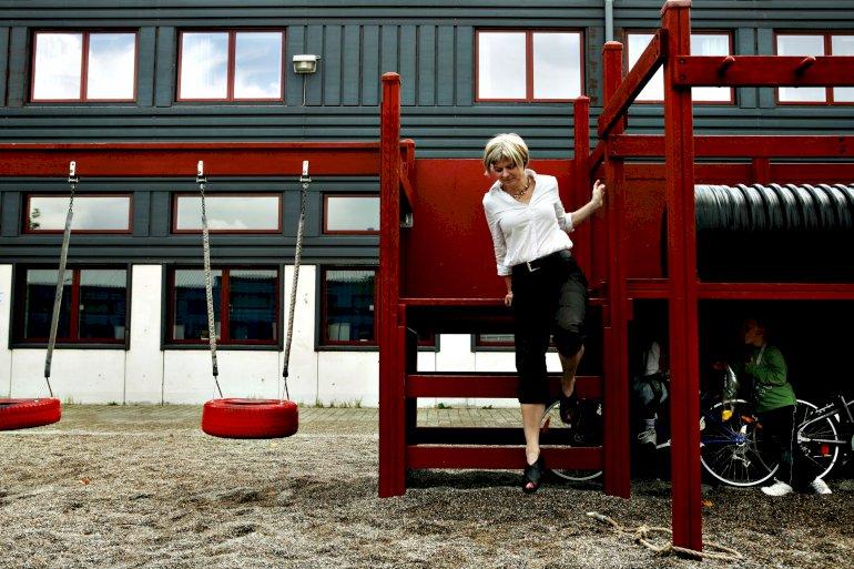 Da Birgit Lise Andersen blev skoleleder på Strandgårdskolen i 2004, stod det hurtigt klart for hende, at de havde brug for længere tid med børnene. Derfor blev skolen landets ellevte helhedsskole i 2011.Foto: Polfoto