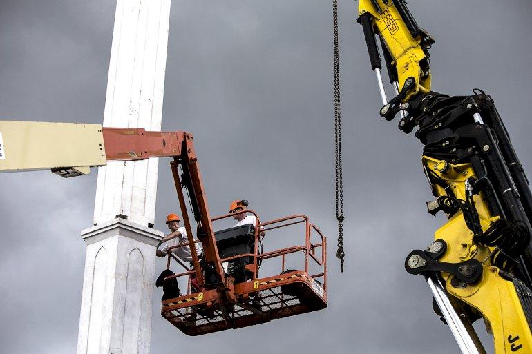 Stormoskéen på Nørrebro finansieredes fuldt ud af oliestaten Qatar, men den planlagte moské på Amager har været mindre heldig med investorer og er nu fejet endeligt af tegnebrættet. Foto: Polfoto / Niels Hougaard