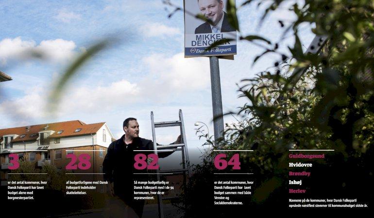 Mikkel Dencker og resten af DF i Hvidovre har brugt deres fem mandater i byrådet til at indgå budgetforlig alene med Socialdemokraterne. Foto: Scanpix