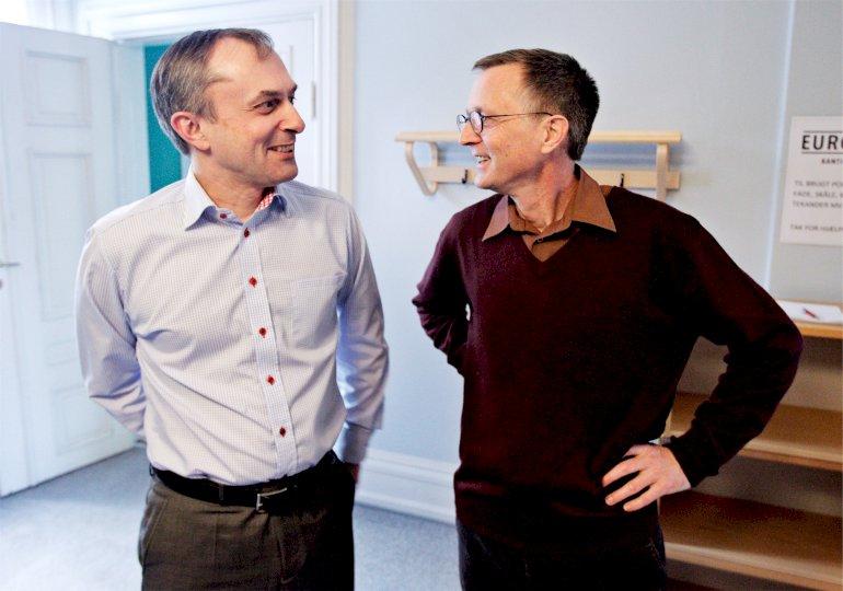 Michael Ziegler (K) (til venstre) undrer sig over Jelveds angreb og genkender ikke den situation, den radikale kultur- og kirkeminister lægger til grund for sin hårde dom.Foto: Jens Dresling / Polfoto