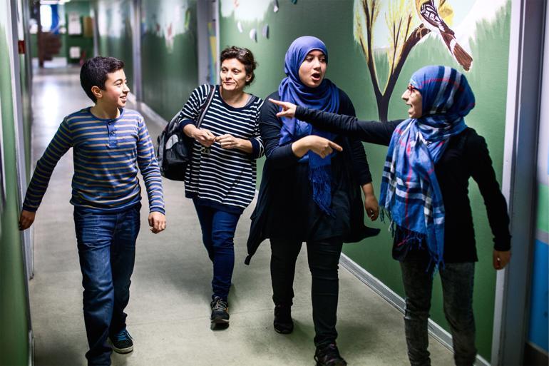 Langt størstedelen af eleverne på Al-Hikma har irakisk baggrund, men skolen går målrettet efter at ansætte etnisk danske lærere. Foto: Kasper Palsnov