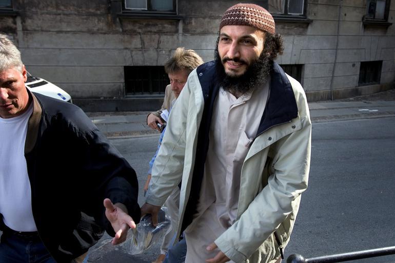 Den 54-årige Sam Mansour, der kaldes boghandleren fra Brønshøj, har anket en dom på fire år for at propagandere for terror. Begrundelsen er ifølge hans forsvarer, advokat Thorkild Høyer, hensynet til ytringsfriheden. Foto: Polfoto