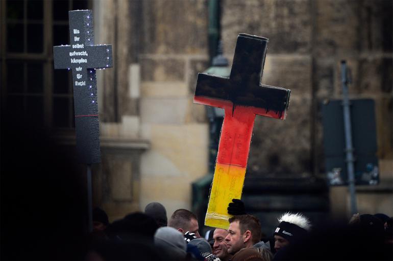 Tysk Pegida truet af opløsning