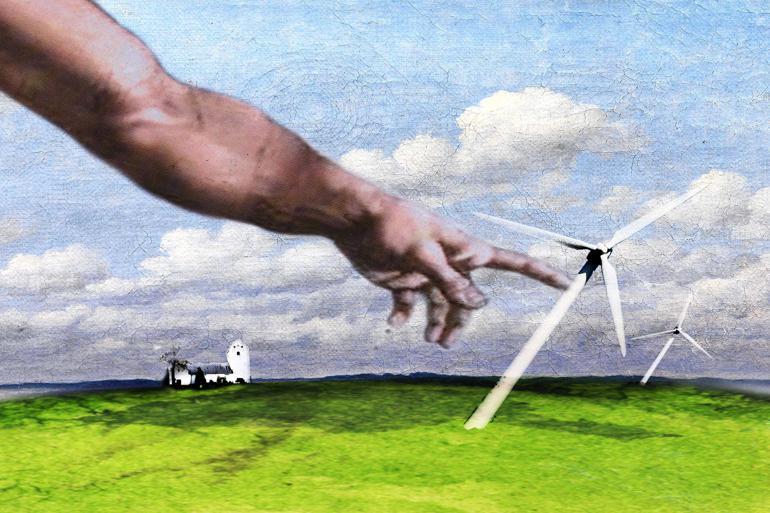 Kirker bekriger kommunale vindmøller