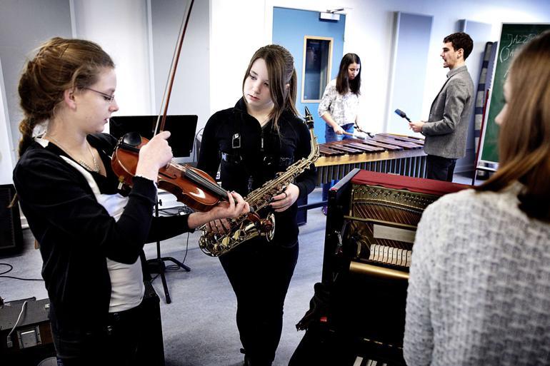 Rep fra en JAZZCAMP FOR UNGE PIGER på Aarhus musikskole