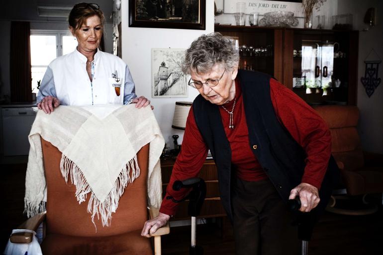 København er en af de 34 kommuner i undersøgelsen, der har en klar plan for, hvordan de ældre sikres hjælp, hvis en privat hjemmehjælpervirksomhed pludselig må dreje nøglen om. Foto: Lærke Posselt / Polfoto