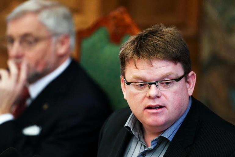 Den gode tone fra Folketingets talerstol vil Torben Hansen gerne tage med hjem til byrådet i Randers.  Foto: Jens Dige / Polfoto