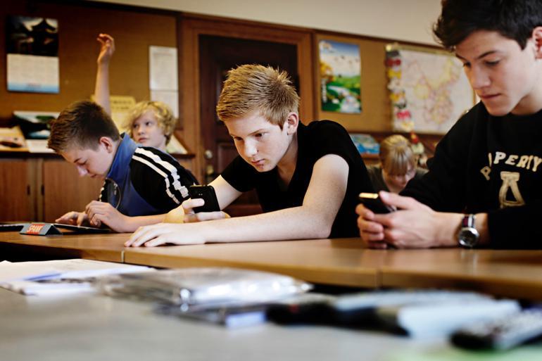 Karakterer fra sjette klasse blev virkelighed i Gentofte Kommune med frikommuneforsøget. I Gentofte har man haft stor glæde af forsøget, mens andre kommuner har haft en mere lunken oplevelse af forsøget. Foto: Martin Bubandt / Polfoto
