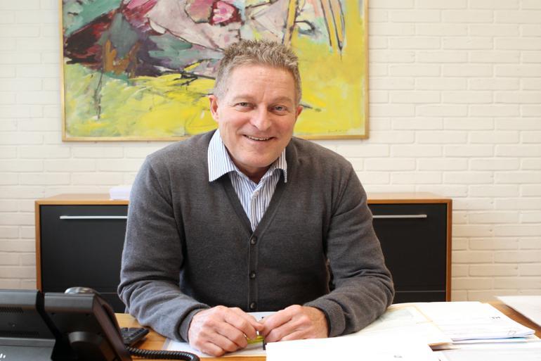 Kent Max Magelund blev hentet ind som stedfortræder, da Ib Terp i november sidste år fik sygeorlov. Foreløbig sidder Magelund på tronen frem til kommunalvalget i 2017. Foto: Brøndby Kommune
