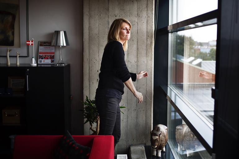 Birgitte S. Hansen (S), borgmester i Frederikshavn, vil hellere give KL's bestyrelse 'rygstød' end et bundet mandat ved forårets økonomiforhandlinger. Foto: Lasse Kofod / Polfoto