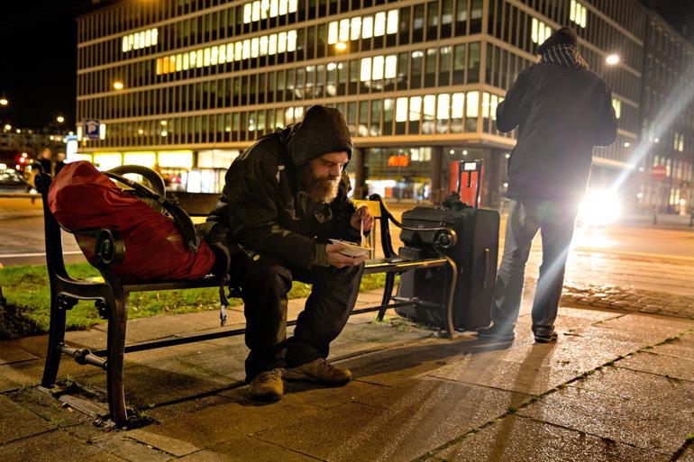 På trods af en lovændring sidste sommer er det stadig under en tredjedel af hjemløse på herberger og bosteder, der har en §141-handleplan. Foto: Jacob Ehrbahn / Polfoto