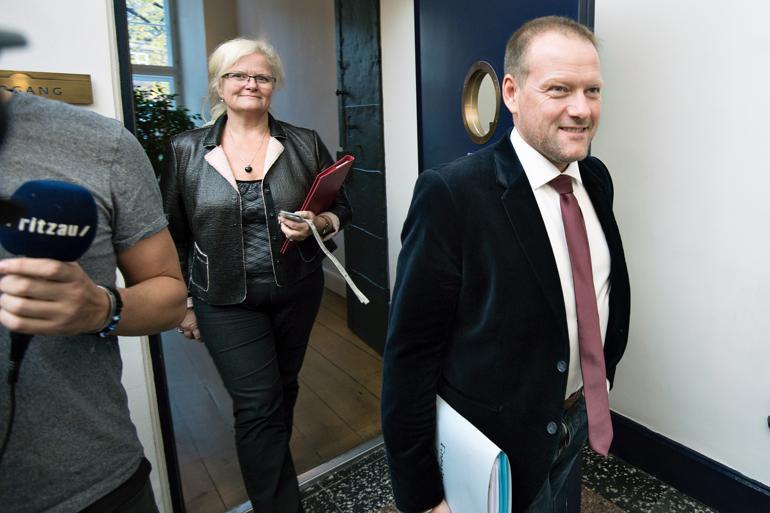 René Christensen vil ikke længere love at pengene fra omprioriteringsbidraget går tilbage til kommunerne, når vi når 2018 og 2019. Foto: Lars Krabbe/Polfoto