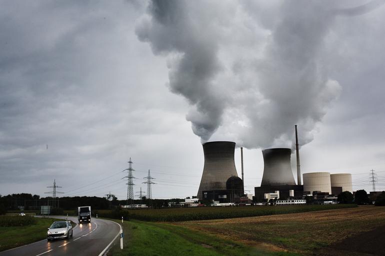 I 2022 skal alle tyske atomkraftværker være taget af nettet. I dag leveres omkring 15 procent af al tysk energi fra landets otte tilbageværende atomkraftværker. Foto: Peter Klint / Polfoto