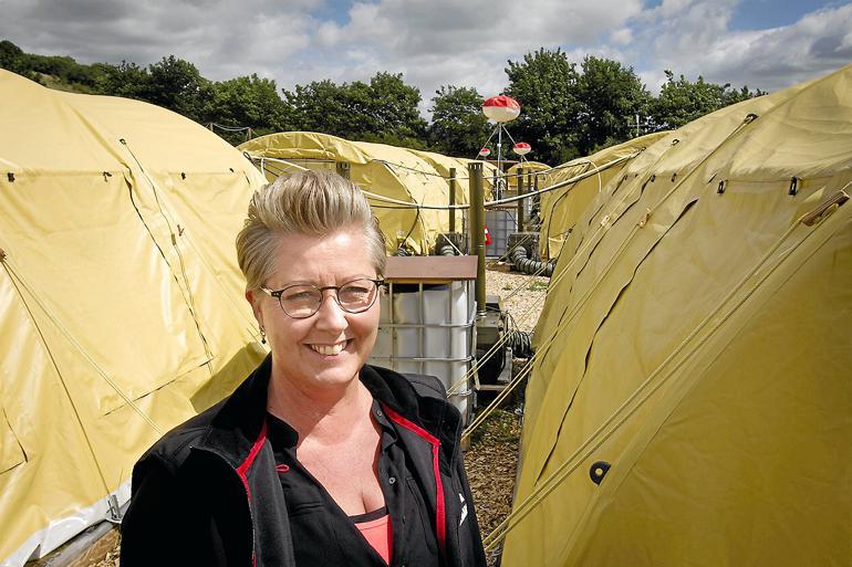 Der har ikke været masseslagsmål eller optræk til voldsom uro i de første to måneder, hvor Susan Knage Møller har været chef for Asylcenter Næstved. Foto: Thomas Olsen / Sjællandske Medier