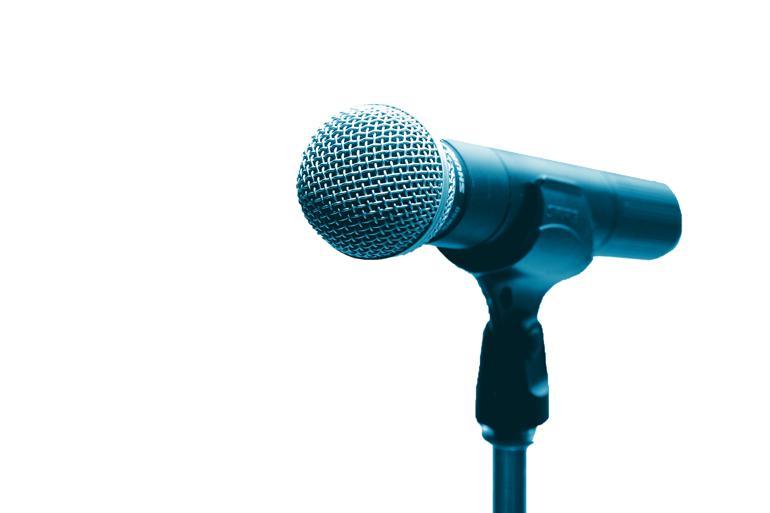 Mikrofonen spillede en uønsket hovedrolle på borgermødet i Uldum. Foto:  Polfoto