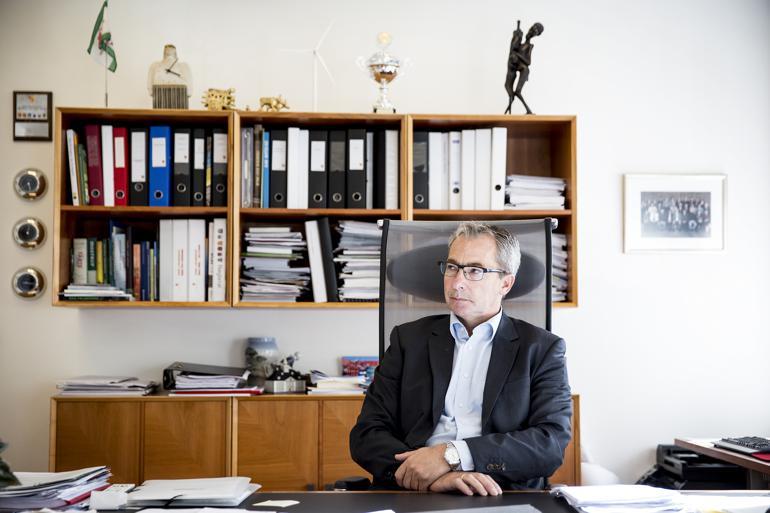 John Brædder er den eneste siddende borgmester fra en lokalliste. Han er i gang med sin anden periode som borgmester i Guldborgsund Kommune og er igen valgt som Guldborgsundlistens spidskandidat. Foto: Stine Bidstrup / Polfoto