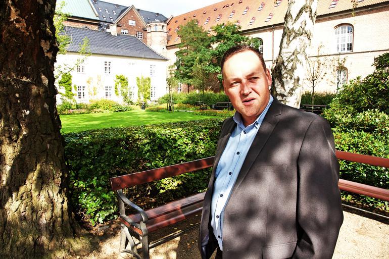 Mikkel Dencker er én af de to DFere, der kan snuppe en borgmesterpost ved valget til november. Foto: Johannes Baunsgaard Lange.