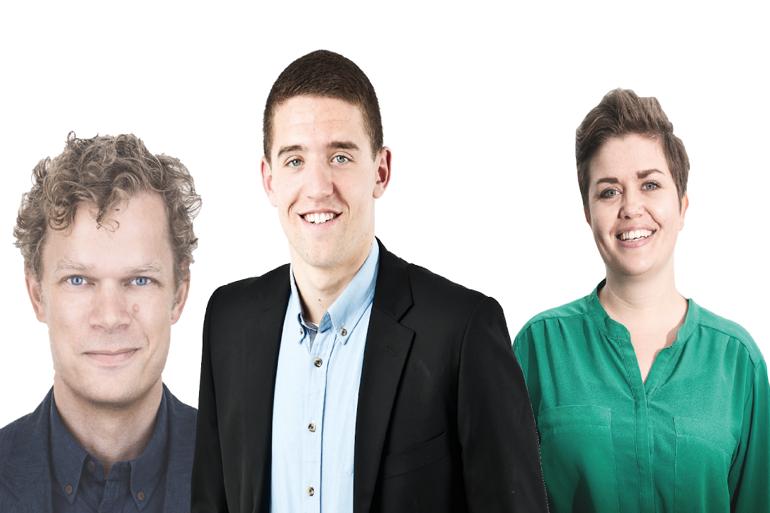 Tre dedikerede ildsjæle der har kastet håndklædet i byrådssalen. Fra venstre; Jens Anker Hansen (R), Andreas Pless, (K) og Cæcilie Lyndgaard Andersen (EL).