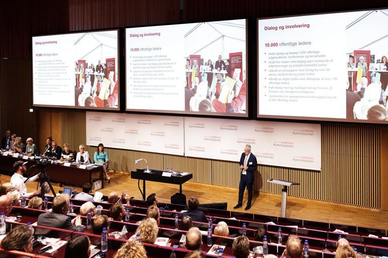 Ledelseskommissionens formand, Allan Søgaard Larsen, præsenterede tirsdag kommissionens anbefalinger til bedre offentlig ledelse.
