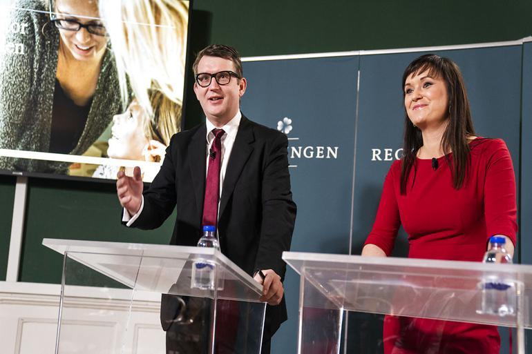 Innovationsminister Sophie Løhde (V) og beskæftigelsesminister Troels Lund Poulsen (V) præsenterede regeringens reform En offentlig sektor rustet til fremtiden