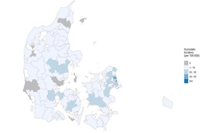 Otte kommuner har stadig ingen med corona-diagnose
